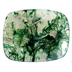 Natural 37.35cts moss agate green cabochon 34x28mm octagan loose gemstone s20724