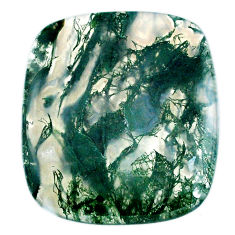 Natural 54.45cts moss agate green cabochon 37x32.5 mm loose gemstone s20721