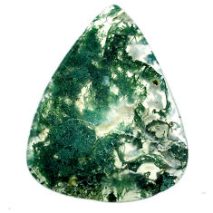 Natural 34.45cts moss agate green cabochon 40x31 mm pear loose gemstone s20727