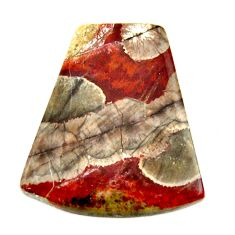 Natural 10.15cts mushroom rhyolite brown 21.5x19 mm fancy loose gemstone s17909