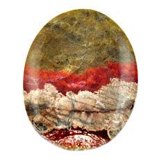 Natural 10.15cts mushroom rhyolite brown 21x16 mm oval loose gemstone s17906