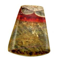 Natural 11.30cts mushroom rhyolite brown 22.5x17.5mm fancy loose gemstone s17910