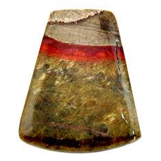Natural 10.30cts mushroom rhyolite brown 22.5x18 mm fancy loose gemstone s17913