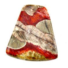 Natural 10.25cts mushroom rhyolite brown 22.5x19 mm fancy loose gemstone s17908