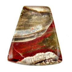 Natural 12.40cts mushroom rhyolite brown 23x19 mm fancy loose gemstone s17914