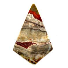 Natural 7.40cts mushroom rhyolite brown 31.5x18 mm fancy loose gemstone s17920