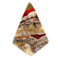 Natural 8.25cts mushroom rhyolite brown 31x18 mm fancy loose gemstone s23161