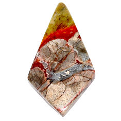 Natural 13.25cts mushroom rhyolite brown 34x17.5 mm fancy loose gemstone s23168