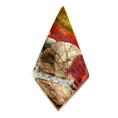 Natural 13.25cts mushroom rhyolite brown 36x17.5 mm fancy loose gemstone s17901