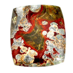 Natural 57.40cts mushroom rhyolite brown 37.5x31mm octagan loose gemstone s21902