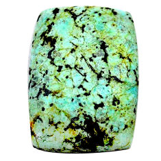 Natural 17.40cts norwegian turquoise green 23x16mm octagan loose gemstone s24018