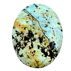 Natural 13.10cts norwegian turquoise green 24x17.5 mm oval loose gemstone s24026