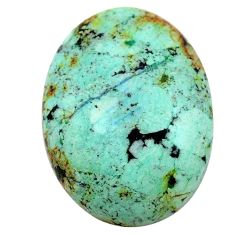 Natural 19.35cts norwegian turquoise green 25x18 mm oval loose gemstone s24005