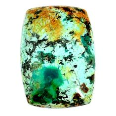 Natural 22.40cts norwegian turquoise green 26x17mm octagan loose gemstone s22264