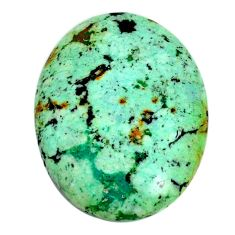 Natural 30.10cts norwegian turquoise green 32x24 mm oval loose gemstone s22263