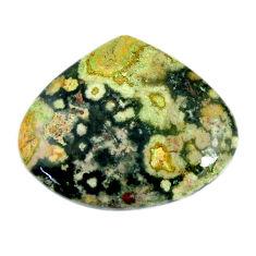 Natural 35.10cts ocean sea jasper (madagascar) 32x27 mm loose gemstone s19460