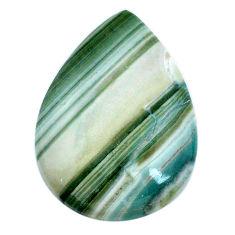 Natural 28.15cts opal green cabochon 31x22.5 mm pear loose gemstone s20577