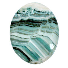 Natural 43.15cts opal green cabochon 35.5x27 mm oval loose gemstone s20571