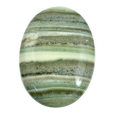 Natural 36.30cts opal green cabochon 35x25 mm oval loose gemstone s20566