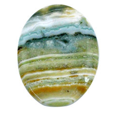 Natural 37.40cts opal green cabochon 35x26 mm oval loose gemstone s20563