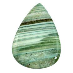 Natural 42.40cts opal green cabochon 40x28 mm pear loose gemstone s20576