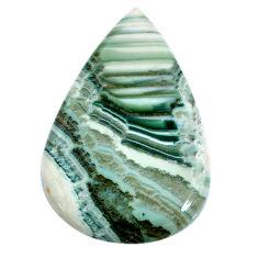Natural 69.45cts opal green cabochon 51x34 mm pear loose gemstone s20572