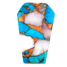Natural 19.45cts opal in turquoise blue 30x18 mm coffin loose gemstone s21543