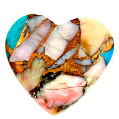 Natural 17.10cts opal in turquoise pink 24x22.5 mm heart loose gemstone s16158