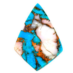 Natural 18.05cts opal in turquoise pink 33.5x22 mm fancy loose gemstone s21576