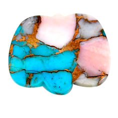 Natural 13.15cts opal in turquoise pink cabochon 24x20 mm loose gemstone s21550