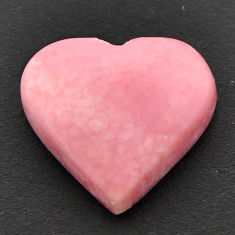 Natural 10.30cts opal pink cabochon 17.5x16 mm heart loose gemstone s17992