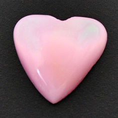 Natural 7.40cts opal pink cabochon 17x16.5 mm heart loose gemstone s17986