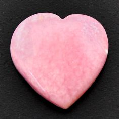 Natural 11.30cts opal pink cabochon 18x18 mm heart loose gemstone s17985