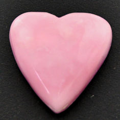 Natural 14.45cts opal pink cabochon 19x18 mm heart loose gemstone s18000