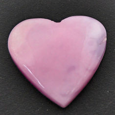 Natural 10.15cts opal pink cabochon 19x18.5 mm heart loose gemstone s17995
