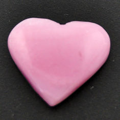Natural 9.45cts opal pink cabochon 20x17 mm heart loose gemstone s17997