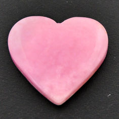 Natural 11.30cts opal pink cabochon 20x18 mm heart loose gemstone s17999