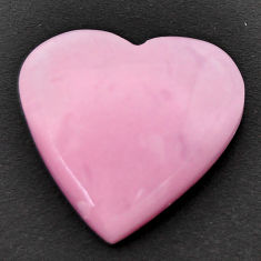 Natural 13.45cts opal pink cabochon 20x20 mm heart loose gemstone s17991