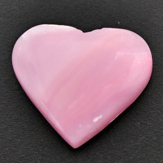 Natural 12.40cts opal pink cabochon 21x19 mm heart loose gemstone s17990