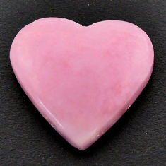 Natural 12.40cts opal pink cabochon 21x19 mm heart loose gemstone s17996