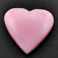 Natural 12.40cts opal pink cabochon 21x20 mm heart loose gemstone s17993