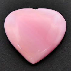 Natural 20.10cts opal pink cabochon 23.5x22 mm heart loose gemstone s17988
