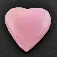 Natural 14.45cts opal pink cabochon 23x23 mm heart loose gemstone s17987