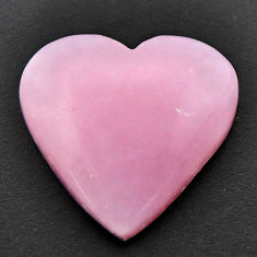 Natural 20.10cts opal pink cabochon 25x24 mm heart loose gemstone s17989
