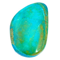 Natural 12.40cts opaline green cabochon 27x17 mm fancy loose gemstone s22755