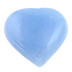 Natural 7.35cts owyhee opal blue cabochon 13.5x13 mm heart loose gemstone s23244
