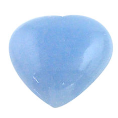 Natural 7.40cts owyhee opal blue cabochon 14x13 mm heart loose gemstone s23242