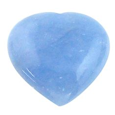 Natural 7.25cts owyhee opal blue cabochon 14x14 mm heart loose gemstone s23246