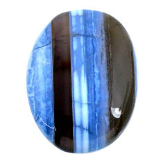 Natural 36.20cts owyhee opal blue cabochon 31x22.5 mm oval loose gemstone s21137