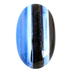 Natural 43.25cts owyhee opal blue cabochon 33.5x22 mm oval loose gemstone s21139